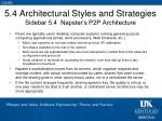 5 4 architectural styles and strategies sidebar 5 4 napster s p2p architecture