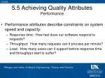 5 5 achieving quality attributes performance