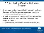 5 5 achieving quality attributes reliability