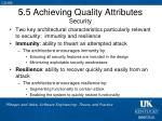 5 5 achieving quality attributes security
