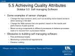 5 5 achieving quality attributes sidebar 5 5 self managing software1
