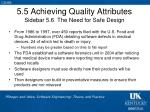 5 5 achieving quality attributes sidebar 5 6 the need for safe design