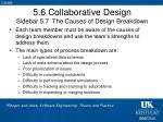 5 6 collaborative design sidebar 5 7 the causes of design breakdown