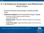 5 7 architecture evaluation and refinement safety analysis