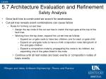 5 7 architecture evaluation and refinement safety analysis2