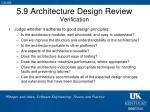 5 9 architecture design review verification
