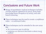 conclusions and future work1