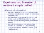 experiments and evaluation of sentiment analysis method13