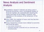 news analysis and sentiment analysis