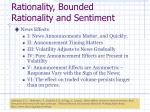 rationality bounded rationality and sentiment