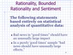 rationality bounded rationality and sentiment1
