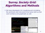 surrey society grid algorithms and methods