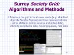 surrey society grid algorithms and methods1