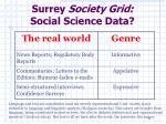 surrey society grid social science data