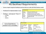 4g backhaul requirements