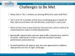 challenges to be met