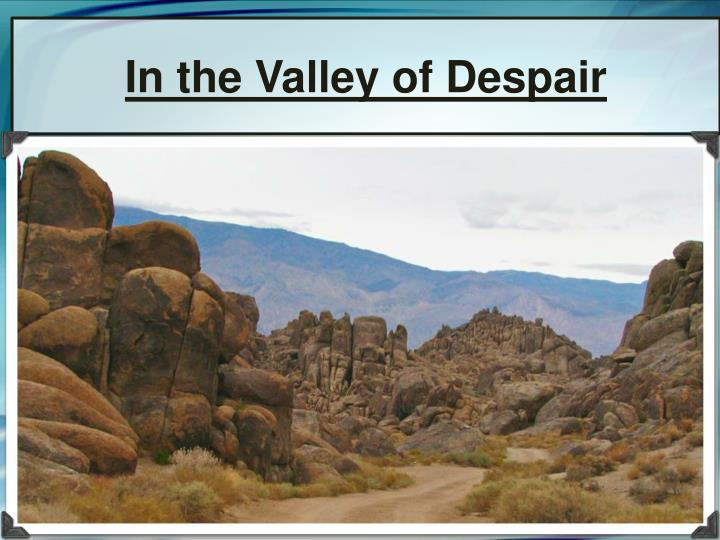 in the valley of despair n.