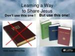 learning a way to share jesus8