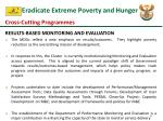 eradicate extreme poverty and hunger1