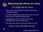 measuring the effects of a story