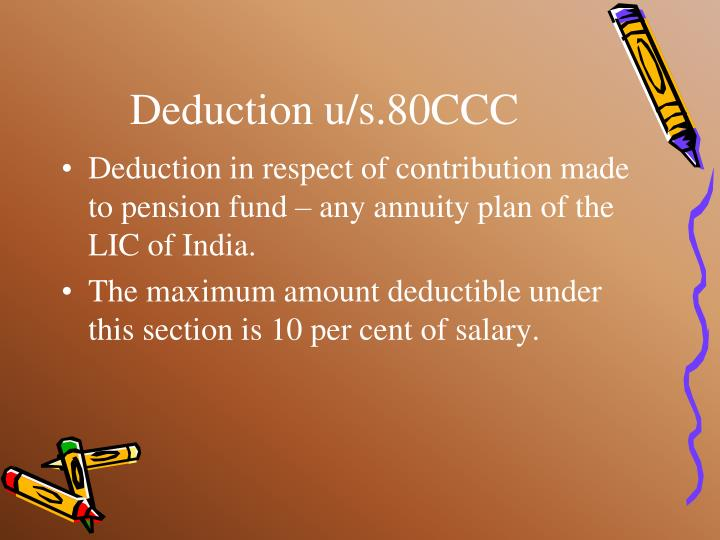 Deduction u/s.80CCC