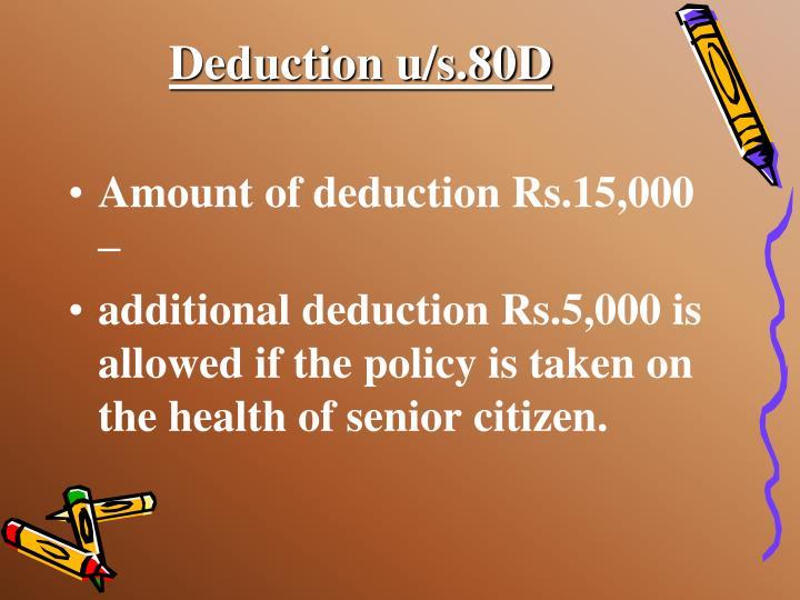 Deduction u/s.80D