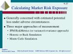 calculating market risk exposure