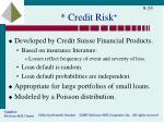 credit risk1