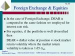 foreign exchange equities