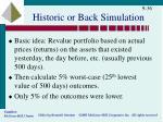 historic or back simulation1