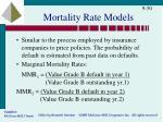 mortality rate models