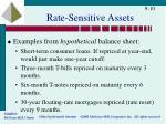 rate sensitive assets