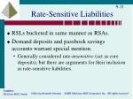 rate sensitive liabilities