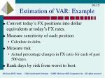 estimation of var example
