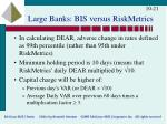 large banks bis versus riskmetrics