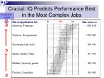 crucial iq predicts performance best in the most complex jobs