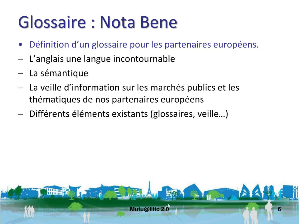 Glossaire :