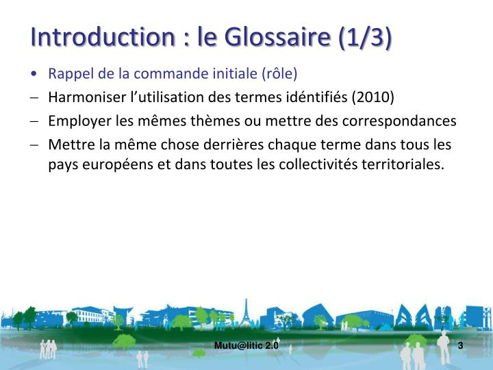 Introduction le glossaire 1 3
