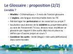 le glossaire proposition 2 2