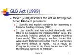 glb act 1999