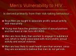 men s vulnerability to hiv