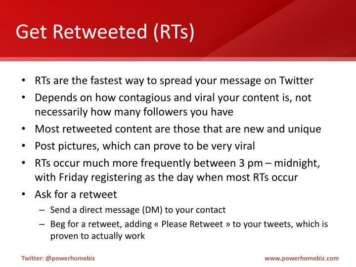 Get Retweeted (RTs)