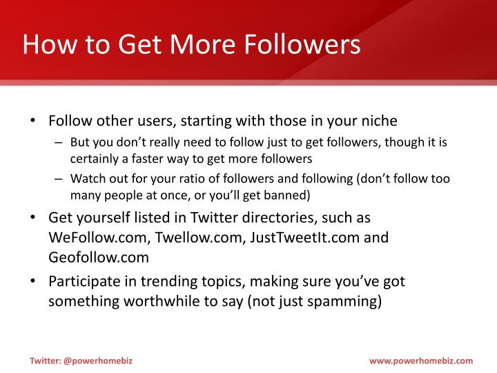 How to Get More Followers