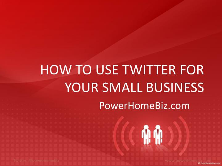 how to use twitter for your small business n.