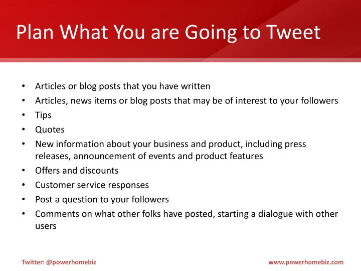 Plan What You are Going to Tweet