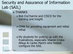 security and assurance of information lab sail9