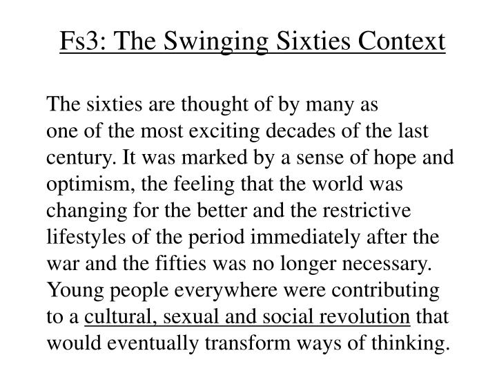 fs3 the swinging sixties context n.