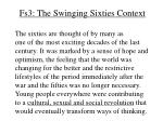 fs3 the swinging sixties context