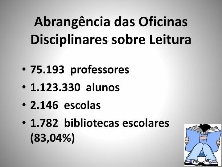 Abrangência das Oficinas Disciplinares sobre Leitura