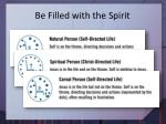 be filled with the spirit1